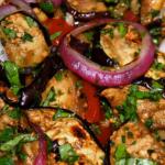 Chilled Aubergine & Sun-dried Tomato Salad (serves 2)